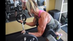 lovely fit milf exercising huge beautiful muscular arms