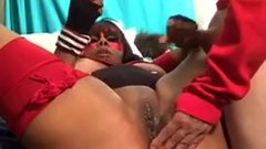 Sexy Milf Takes Anal Beads Up Huge Ass